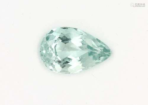 Loose bevelled aquamarine pear approx. 7.78 ct