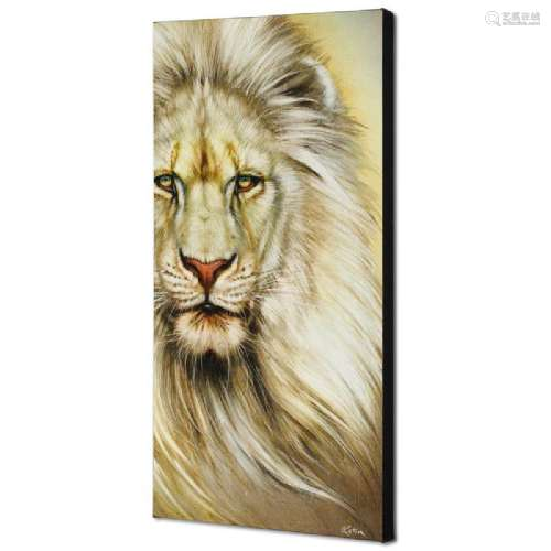 White Lion Limited Edition Giclee on Canvas by Martin