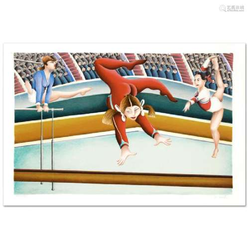 Gymnast Limited Edition Lithograph By Yuval Mahler,