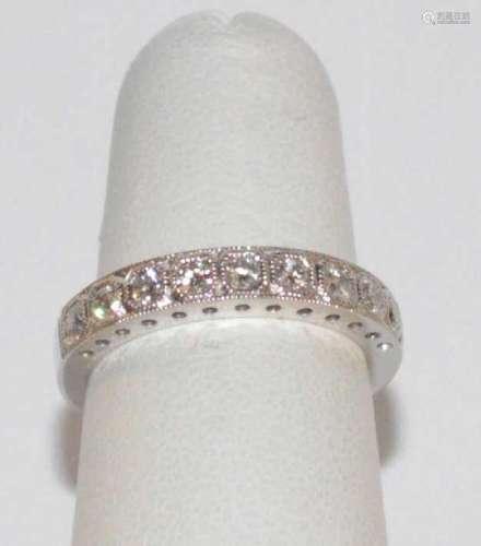 White gold diamond wedding band by Parviz