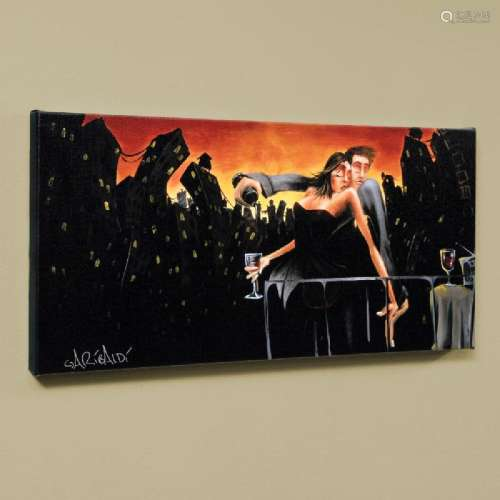 City Lights & Love LIMITED EDITION Giclee on Canvas
