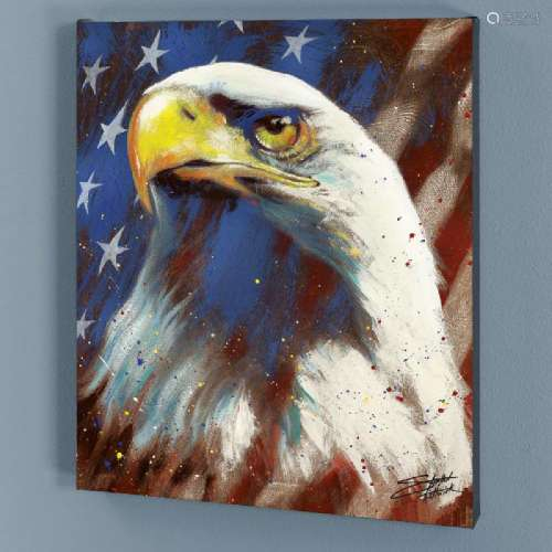 Formatted America LIMITED EDITION Giclee on Canvas by