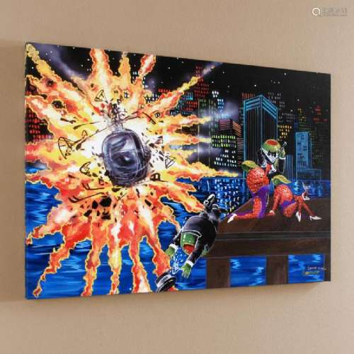 Shaken Not Stirred LIMITED EDITION Giclee on Canvas