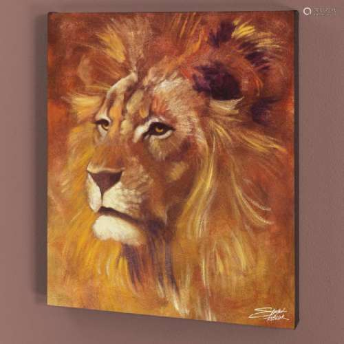 Lion LIMITED EDITION Giclee on Canvas by Stephen
