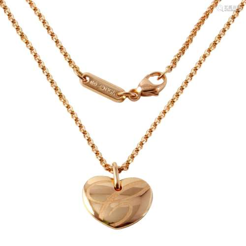 Chopard 18KT Rose Gold Heart Necklace