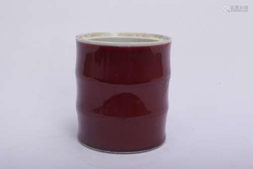 A Chinese Red Glazed Porcelain Vase