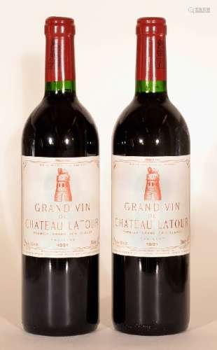 2 bottles 1991 Chateau Latour