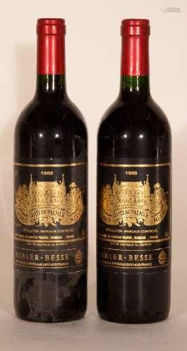 2 bottles 1988 Chateau Palmer