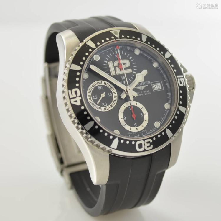 LONGINES Hydro Conquest gents wristwatch with chronograph