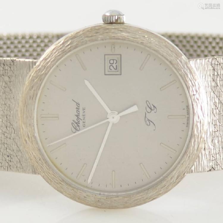CHOPARD fine 18k white gold wristwatch