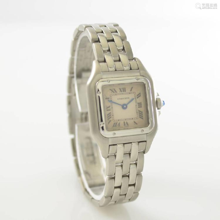 CARTIER Panthere ladies wristwatch in steel