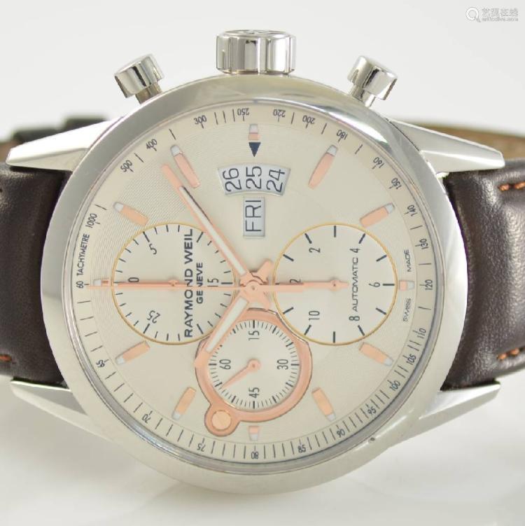 RAYMOND WEIL Freelancer gents wristwatch with chronograph