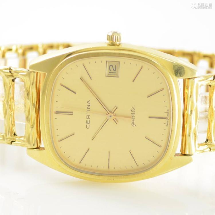 CERTINA Newport heavy 18k yellow gold gents wristwatch