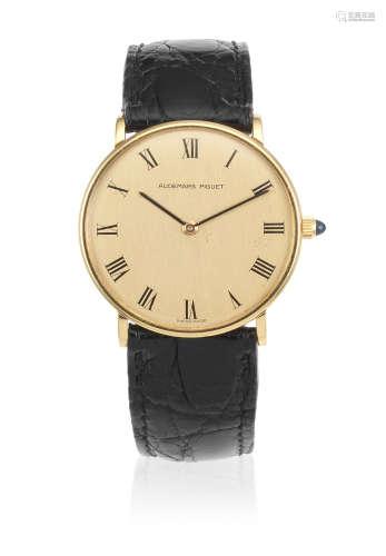 Circa 1985  Audemars Piguet. An 18K gold manual wind wristwatch