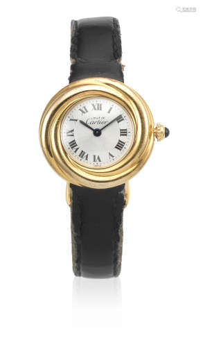Trinity, Ref: 2735, Sold 29th July 2000  Cartier. A lady's gold plated silver quartz wristwatch