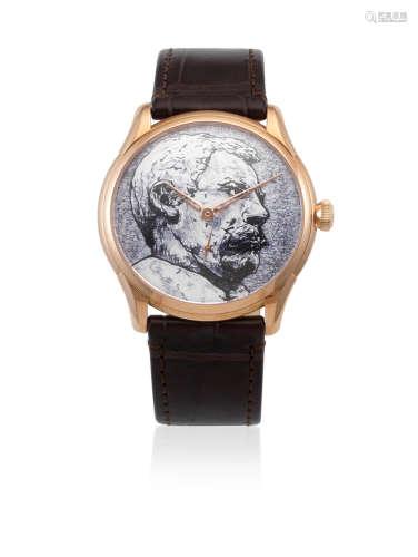Explorers Limited Edition 'Abel Tasman', No.01/10, Circa 2012  Oris. An 18k gold manual wind wristwatch