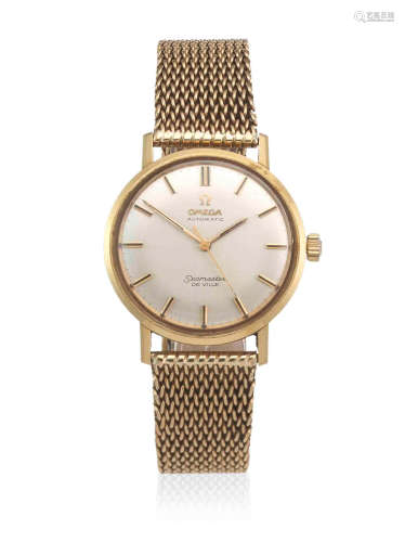 Seamaster De Ville, Dublin Import mark for 1967  Omega. An 18K gold automatic watch with 9K gold bracelet