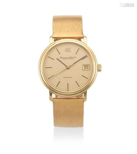 Ref: 3205, Circa 1972  International Watch Company. An 18K gold automatic watch