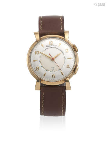 Memovox, Circa 1955  Jaeger-LeCoultre. A gold plated manual wind alarm wristwatch