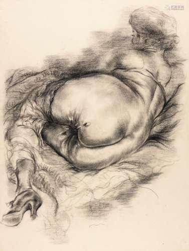 GEORGE GROSZ | Weiblicher liegender akt (Posing Female Nude)