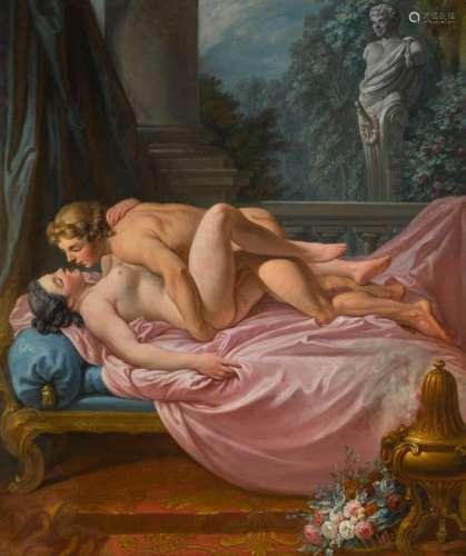JEAN-JACQUES-FRANÇOIS LE BARBIER | An amorous encounter