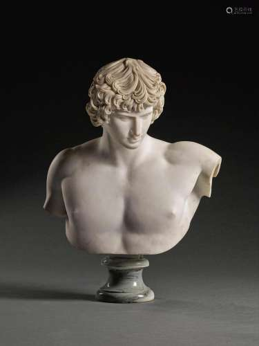 FRENCH, 18TH CENTURY AFTER THE ANTIQUE | Bust of Antinous