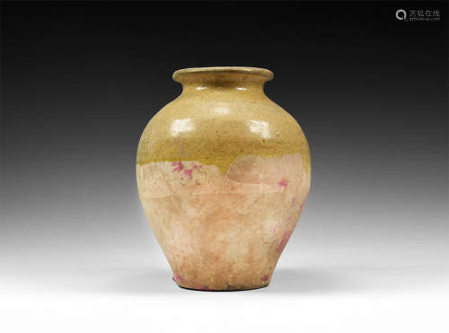 Chinese Tang Semi Glazed Jar