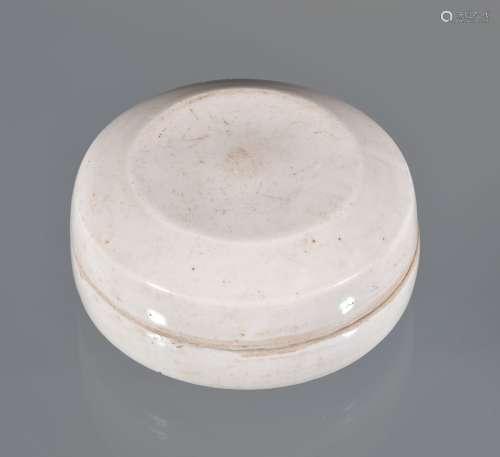 A Chinese Qingbai type circular box and cover, 11.2cm diameter