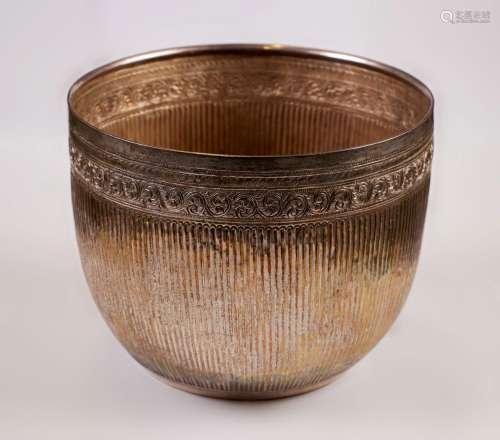 Silver bowl - Burma - late 19° secolo