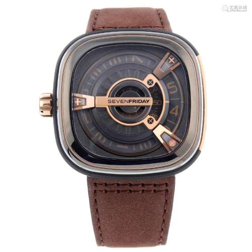 SEVENFRIDAY - a gentleman's M2/02 wrist watch.