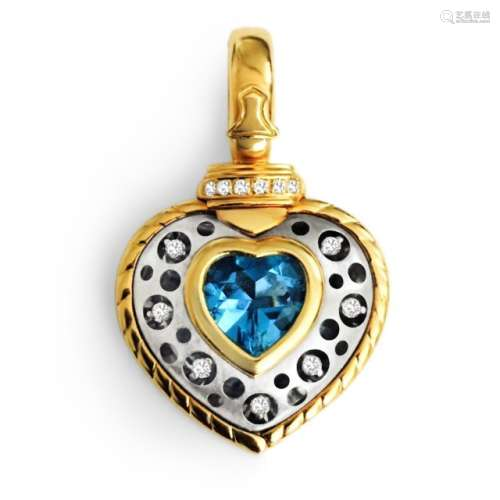 18k Gold Natasha C Diamond Pendant VVS CLARITY DIAMONDS
