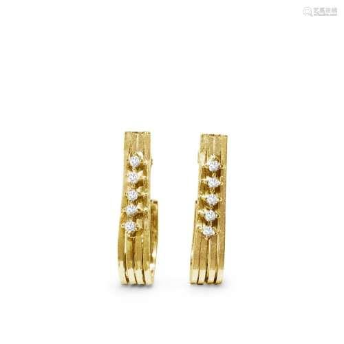 14K Vintage Rare VVS CLARITY F COLOR Earrings