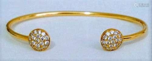 18k Yellow Gold DIAMOND BANGLE / BRACELET