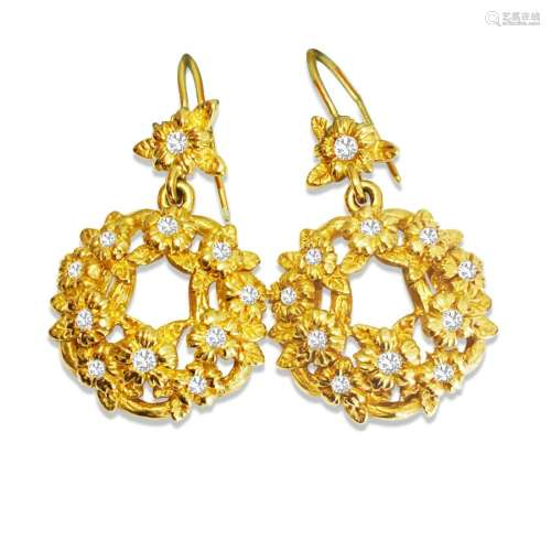 Stephen Dweck 18K GOLD & DIAMONDS Earrings