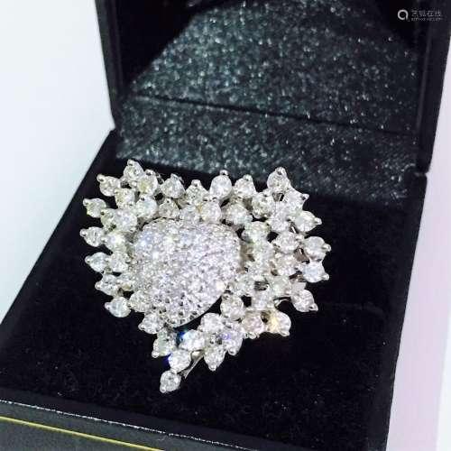14k Gold 4.5 carat Cocktail Diamond Ring