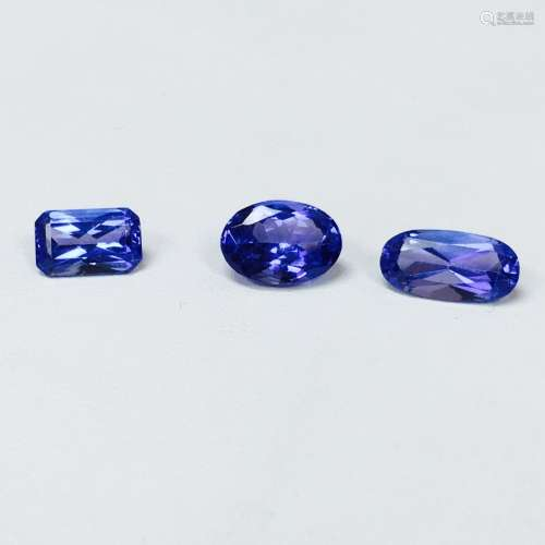 7.40 Carat, Loose Tanzanite Stones. 100% Natural.