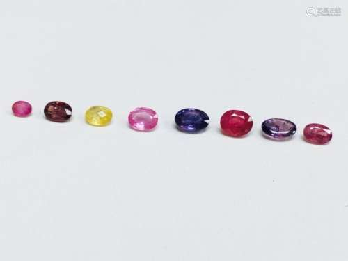 4.75 Carat, Rainbow Sapphire and Ruby Collection.