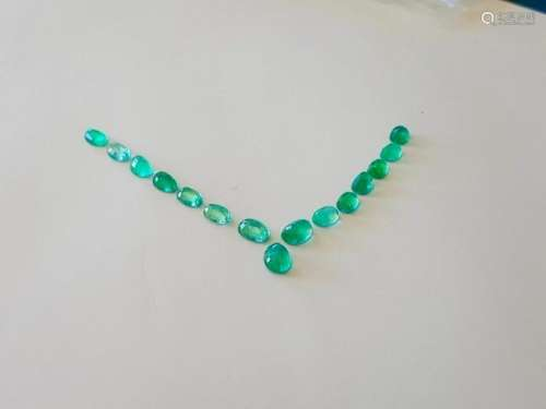 13.95 CARAT LOOSE OVAL SHAPE COLOMBIAN EMERALD