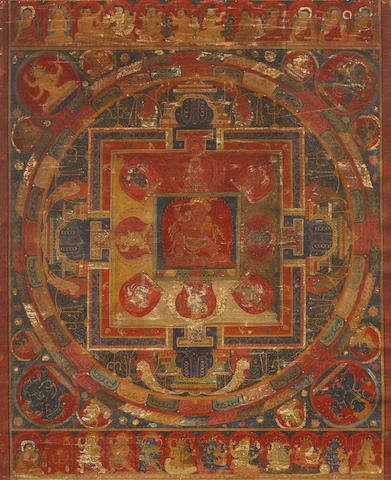 TIBET, 15TH CENTURY A RAKTAYAMARI MANDALA