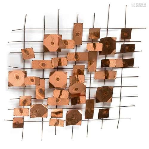 CURTIS JERE - JERRY FELS (1919-2007) & CURTIS FREILER (1910-2013) Sculpture d'applique