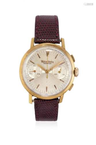 MEN'S GOLD WRISTWATCH WYLER-VETTA WITH CHRONOGRAPH,
