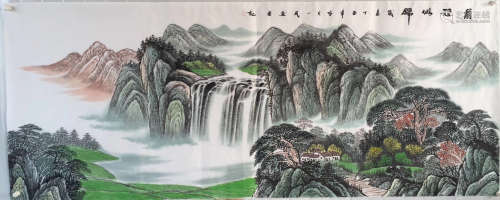 WATERCOLOR PAINTING PAPER OF LIUYIMIN SIGN