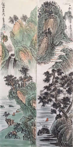 SET OF TWO PAINTINGS OF CHENGXIUTONG SIGN
