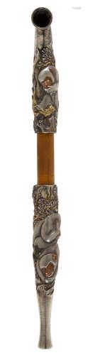 A large and impressive kiseru (pipe)Meiji era (1868-1912), late 19th century Moriyuki (active circa 1900)