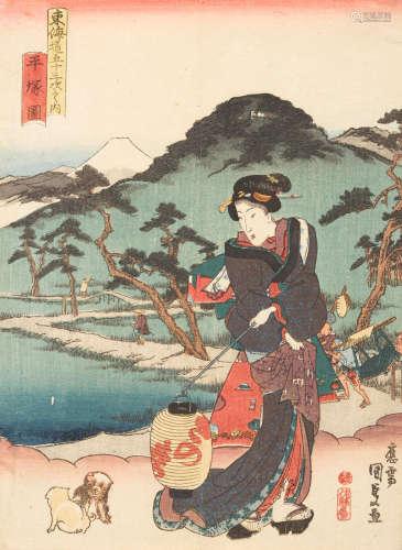 Edo period (1615-1868), circa 1790-1861 Utagawa Toyokuni I (1769-1825), Utagawa Kunisada (1786-1864) and Kunisada II (1823-80)