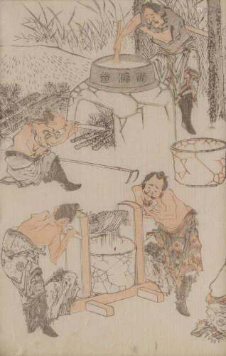 Meiji era (1868-1912), circa 1878 After Katsushika Hokusai (1760-1849)