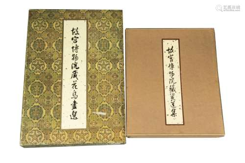 A SET OF TWO BOOKS ON FLOWER AND BIRD PAINTINGS AND