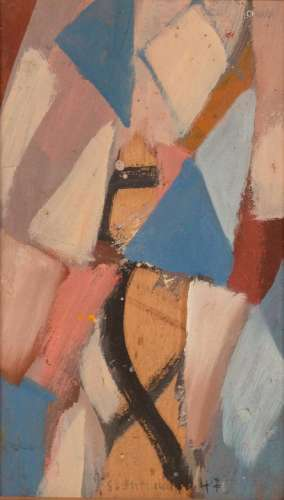Solange BERTRAND (FRA/1913-2011) Sans titre, 1947 Huile