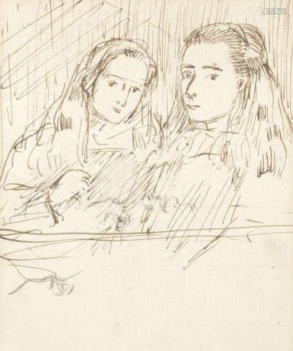 The Sisters Augustus Edwin John O.M.(British, 1878-1961)