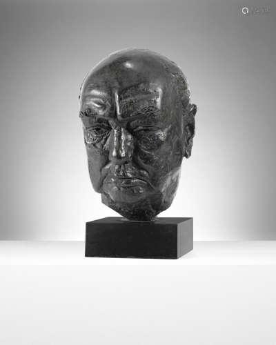 Sir Winston Churchill 30.5cm (12in) (high, excluding base) David McFall R.A.(British, 1919-1988)